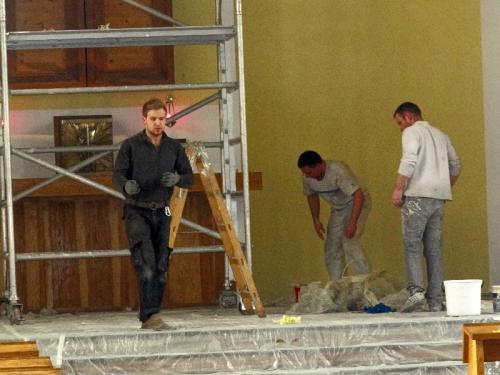 Malowanie prezbiterium - 2013